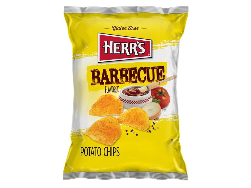 Herr's BBQ Potato Chips 99g
