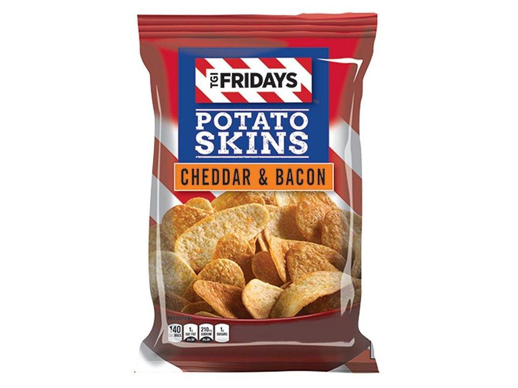 TGI Fridays Cheddar Bacon Potato Skins 113g
