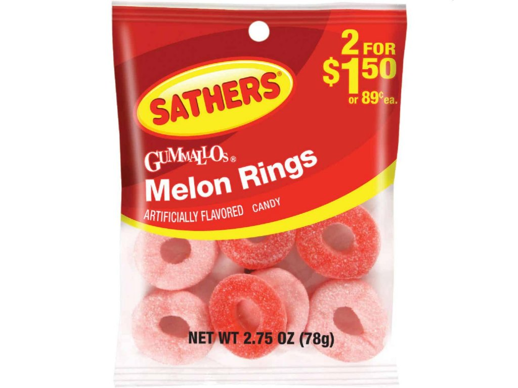 Sathers Watermelon Rings 78g