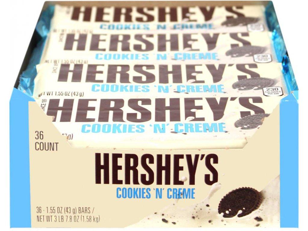 Hershey's Cookies 'n' Creme Bar 36 x 43g AKCE