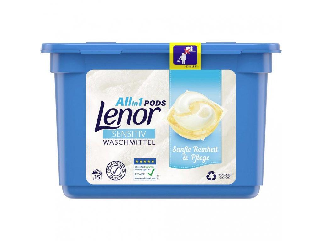 Lenor All in1 Pods Sensitiv 15 dávek 363g