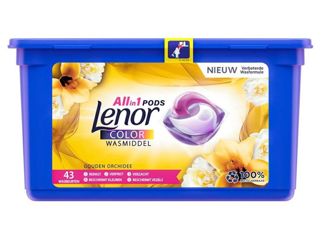 Lenor Pods Color Goldene Orchidee na barevné prádlo 43 dávek 1079,3g