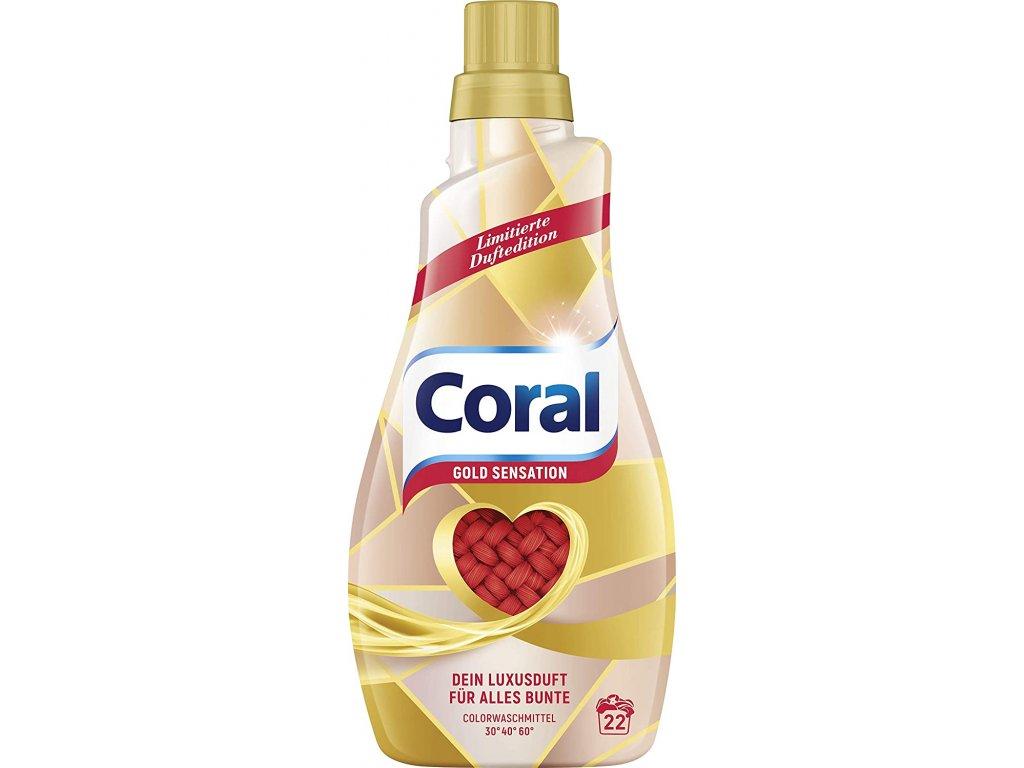 Coral Color Gold Sensation prací gel 22 dávek 1,1l