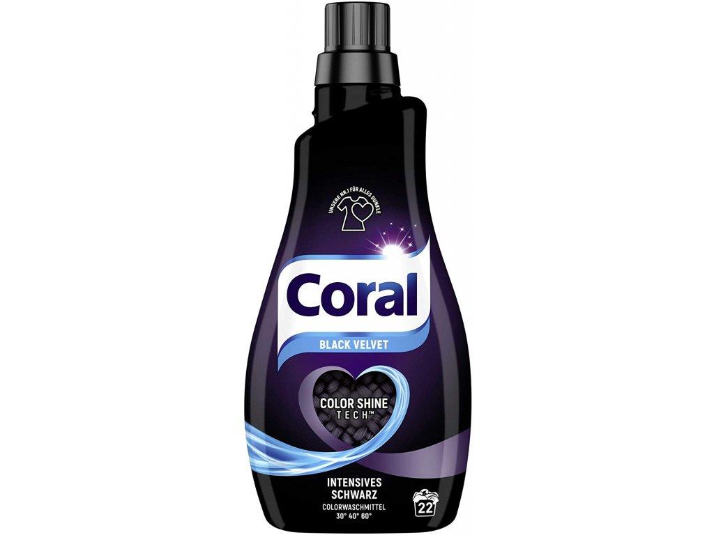 Coral Black Velvet prací gel 22 dávek 1,1l