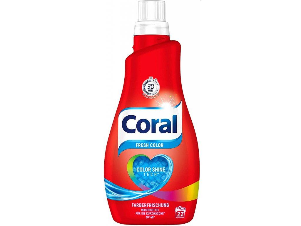 Coral Fresh Color prací gel 22 dávek 1,1l