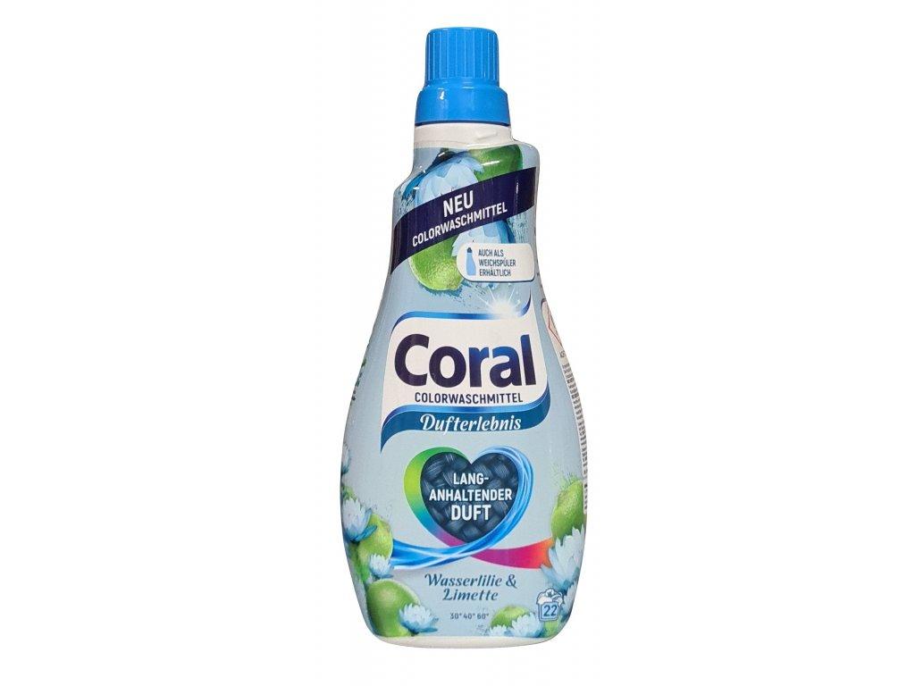 Coral Color Dufterlebnis Wasserlilie & Limette prací gel 22 dávek 1,1l