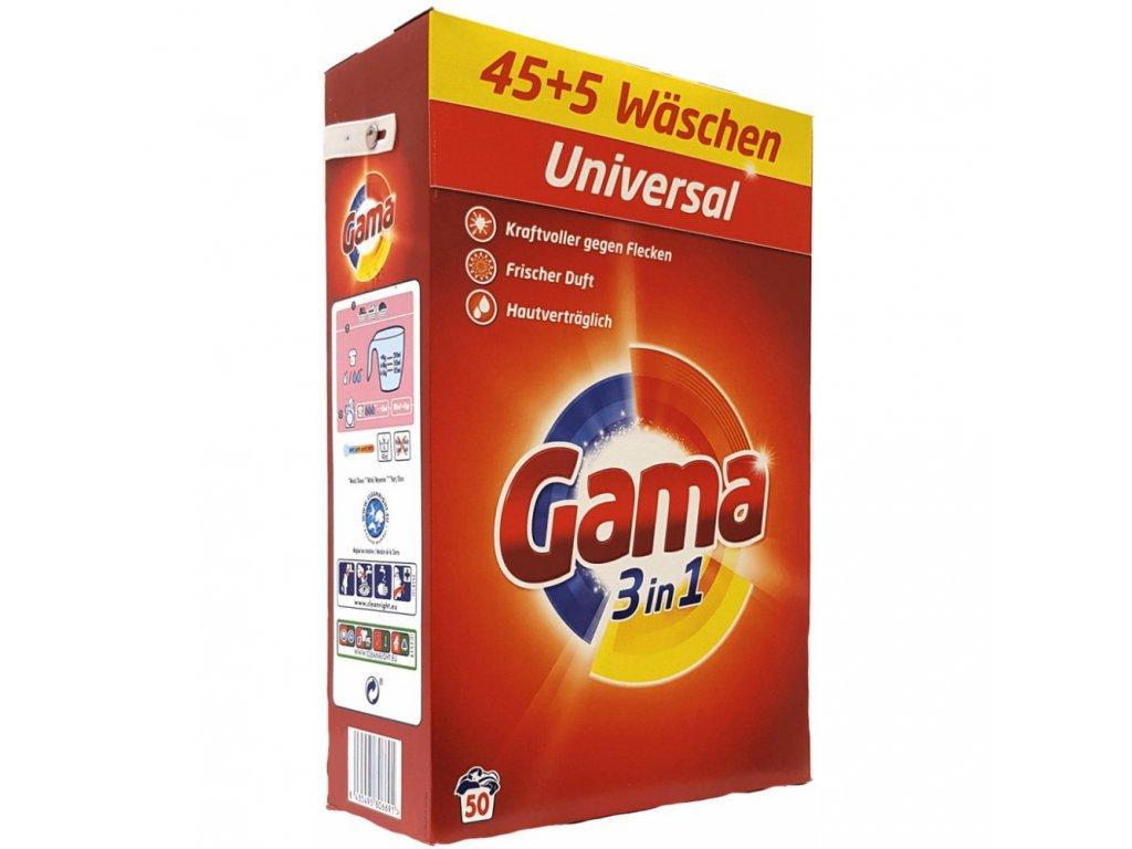 Vizir Gama Universal prášek 50 dávek 3,25kg