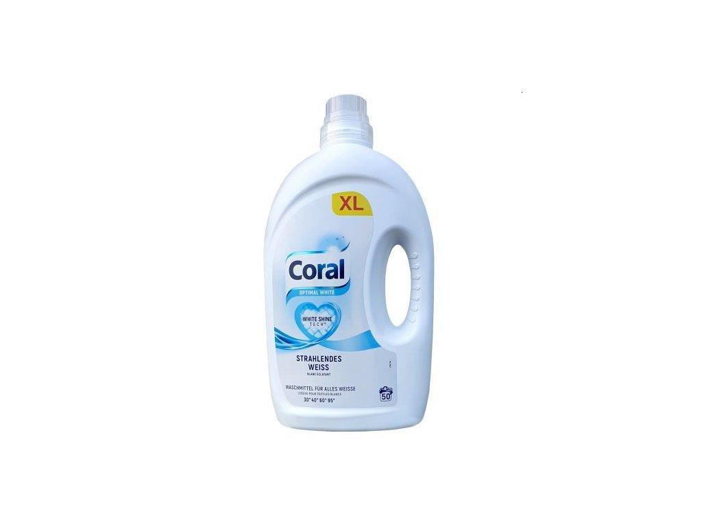 Coral Optimal White prací gel 50 dávek 2,5l