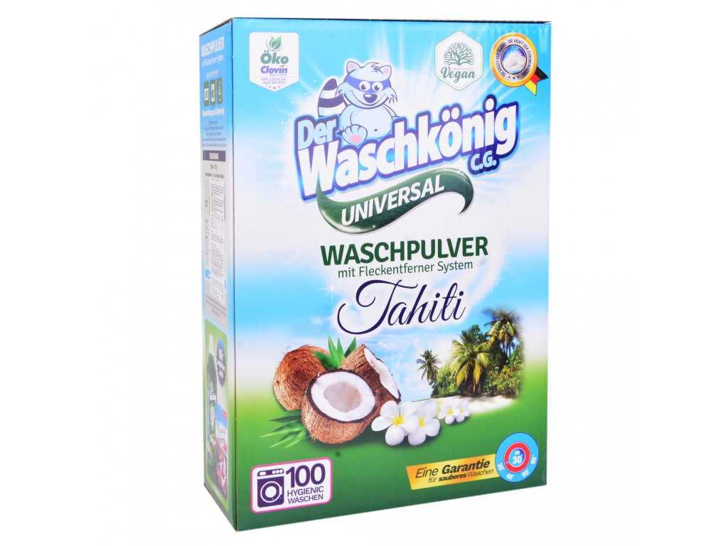 Waschkönig Universal Tahiti prací prášek 100 dávek 7kg