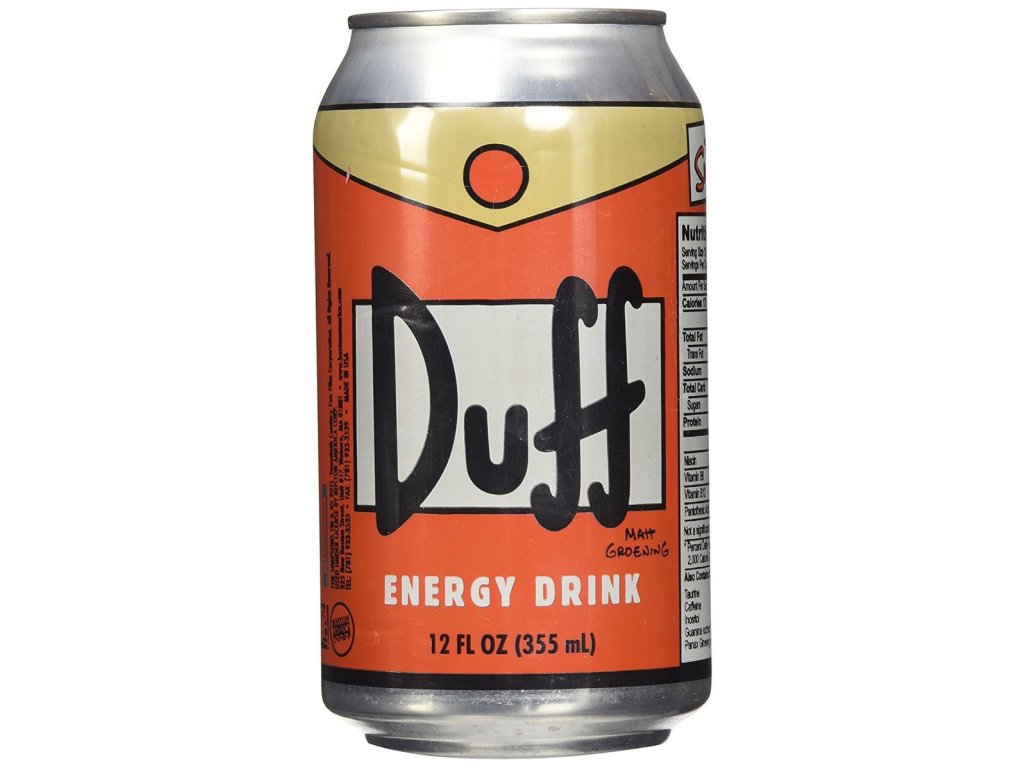 Simpsons Duff Energy Drink 355ml