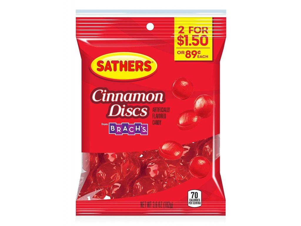 Sathers Cinnamon Discs 102g