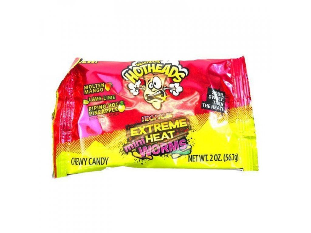 Warheads Hotheads Extreme Heat Worms Tropical 56g