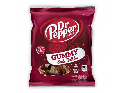 Dr Pepper Gummy Soda Bottles 127g