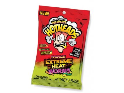 Warheads Hotheads Extreme Heat Worms Tropical 142g