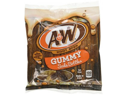 A&W Root Beer Gummy Soda Bottles 128g