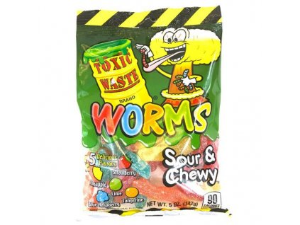 Toxic Waste Sour Gummy Worms 142g