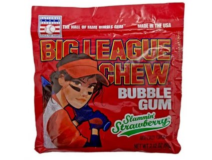 Big League Chew Bubble Gum Strawberry 60g