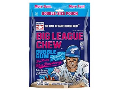 Big League Chew Blue Raspberry Gum 120g