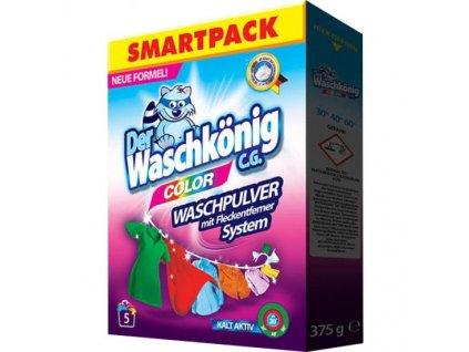 Waschkönig Color prášek na barevné prádlo 5 dávek 375g