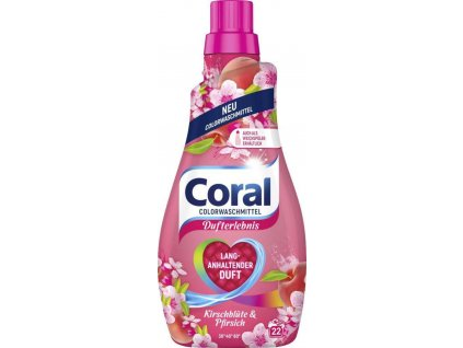 Coral Color Kirschblute & Pfirsich prací gel 22 dávek 1,1l