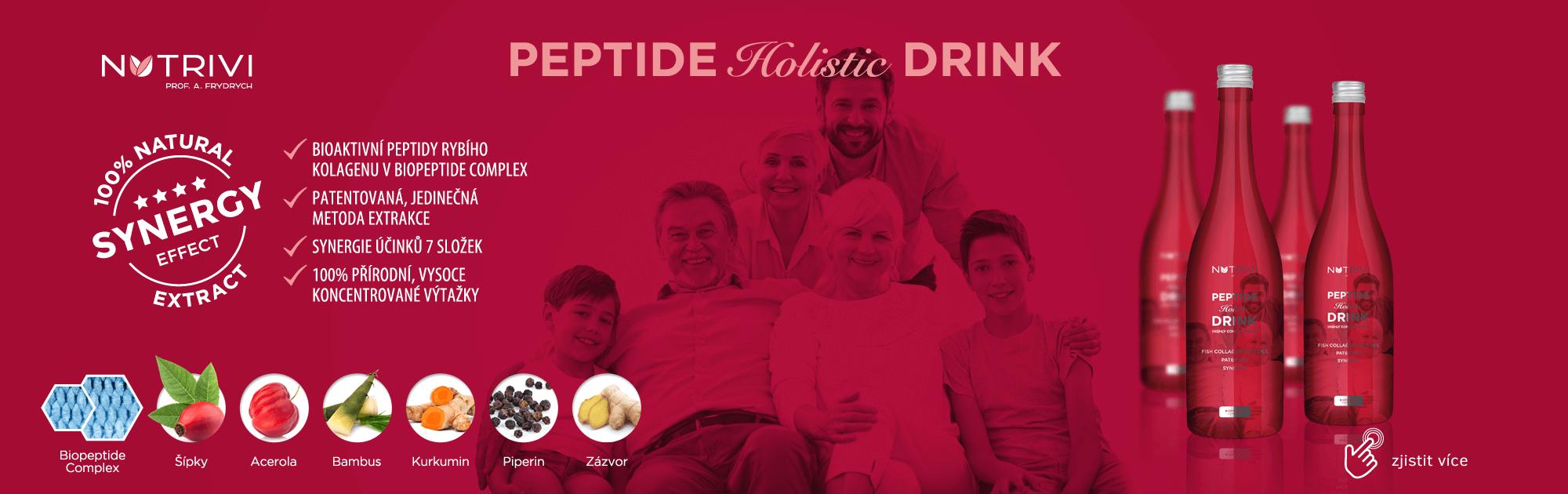 Holistická podpora zdraví pro celou rodinu v podobě nápoje. Nutrivi Peptide Drink.