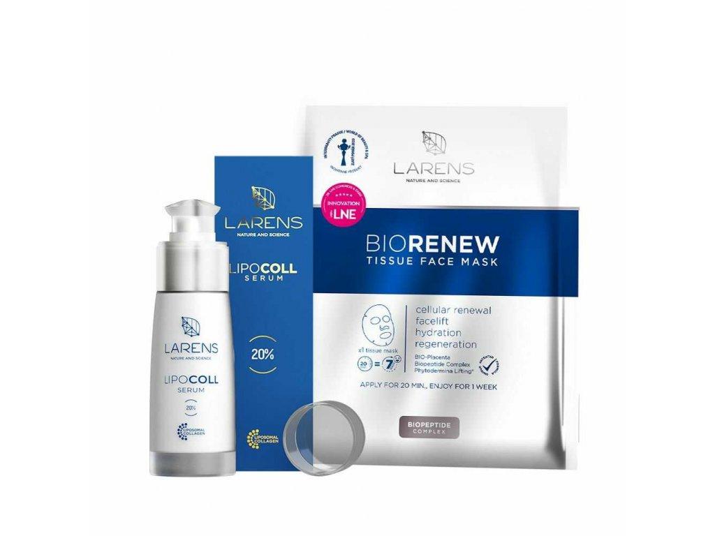 lipocoll serum + 1 sáček bio renew tissue face mask