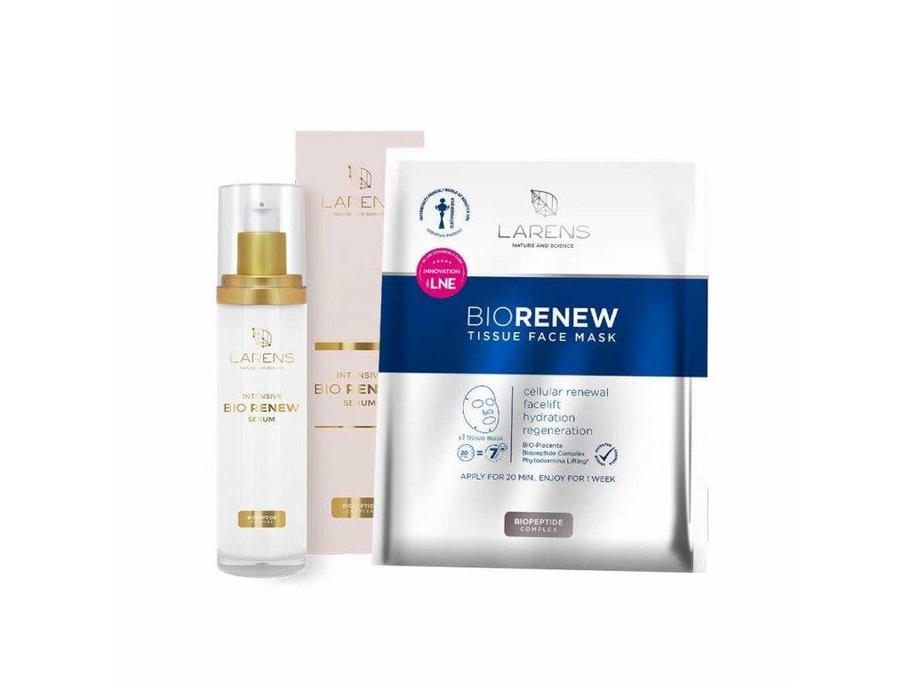 bio renew serum + 1 sáček bio renew tissue face mask