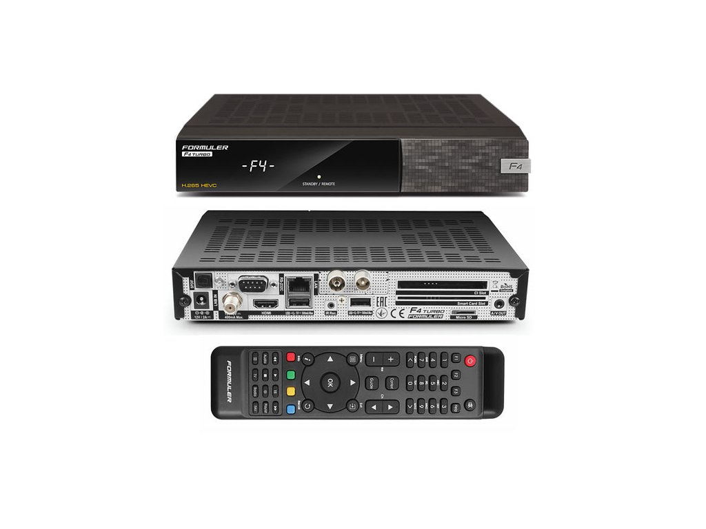 Formuler F4 TURBO COMBO (DVB-S2/DVB-T2/C)  + Konfigurace linuxového přijímače ZDARMA !