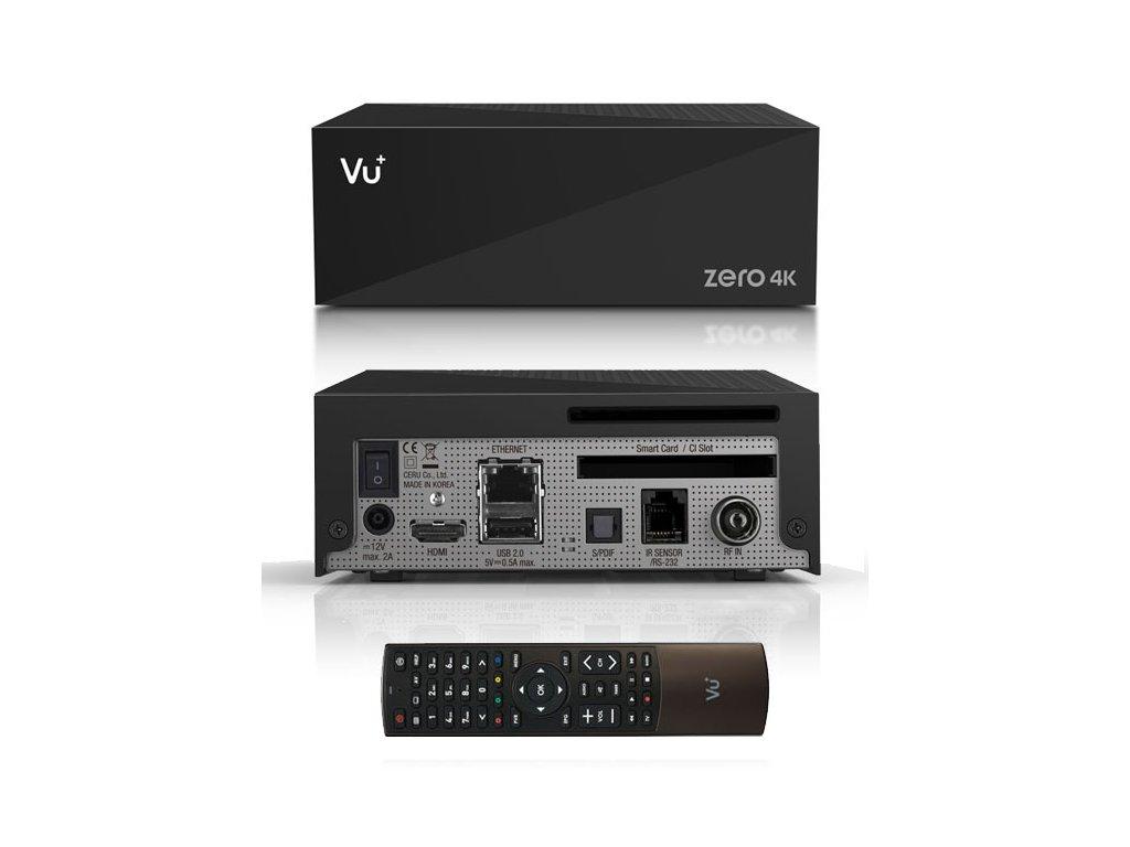 Vu+ ZERO 4K (1x DVB-T2/C)  + Konfigurace linuxového přijímače ZDARMA !