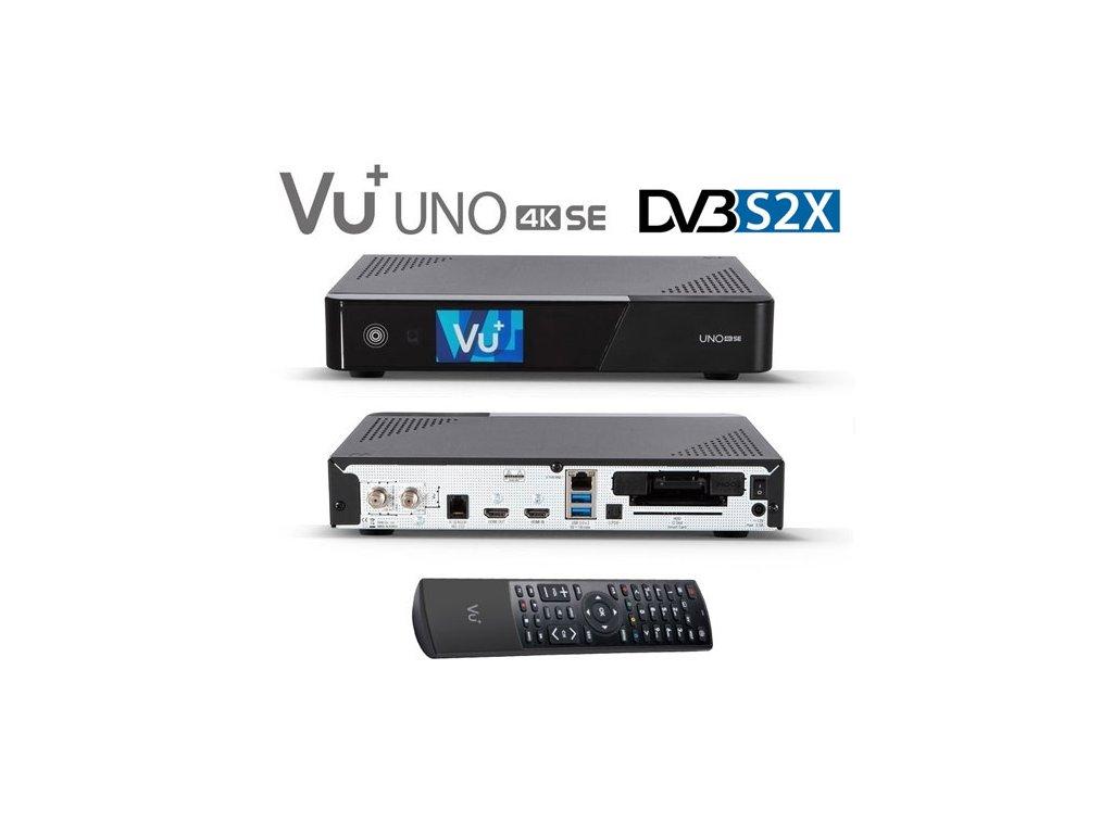 Vu+ UNO 4K SE (1x dual DVB-S2X FBC)  + Konfigurace linuxového přijímače ZDARMA !