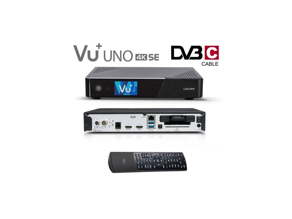 Vu+ UNO 4K SE (1x kabelový dual DVB-C FBC)  + Konfigurace linuxového přijímače ZDARMA !