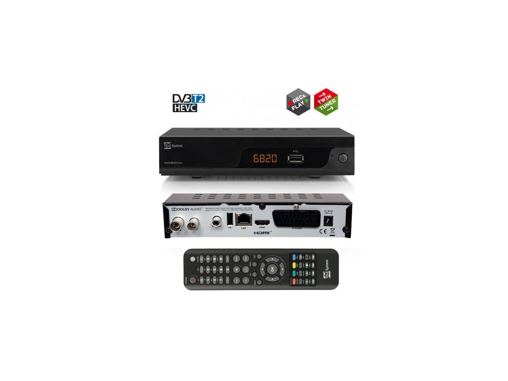 TeleSystem TS6820 HEVC - rozbalený kus