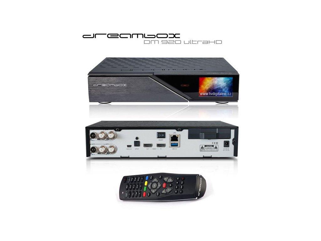 Dreambox DM 920 UHD (2x Triple MultiStream DVB-S2X/DVB-T2/DVB-C)  + Konfigurace linuxového přijímače ZDARMA !