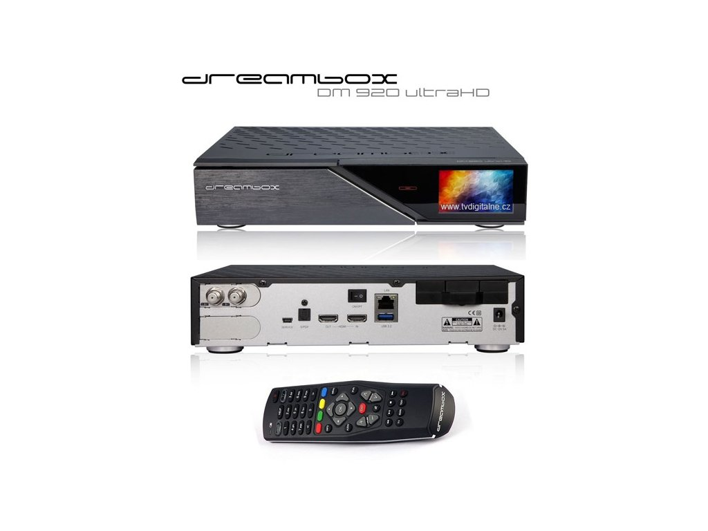Dreambox DM 920 UHD (2x DVB-S2X FBC MultiStream)  + Konfigurace linuxového přijímače ZDARMA !