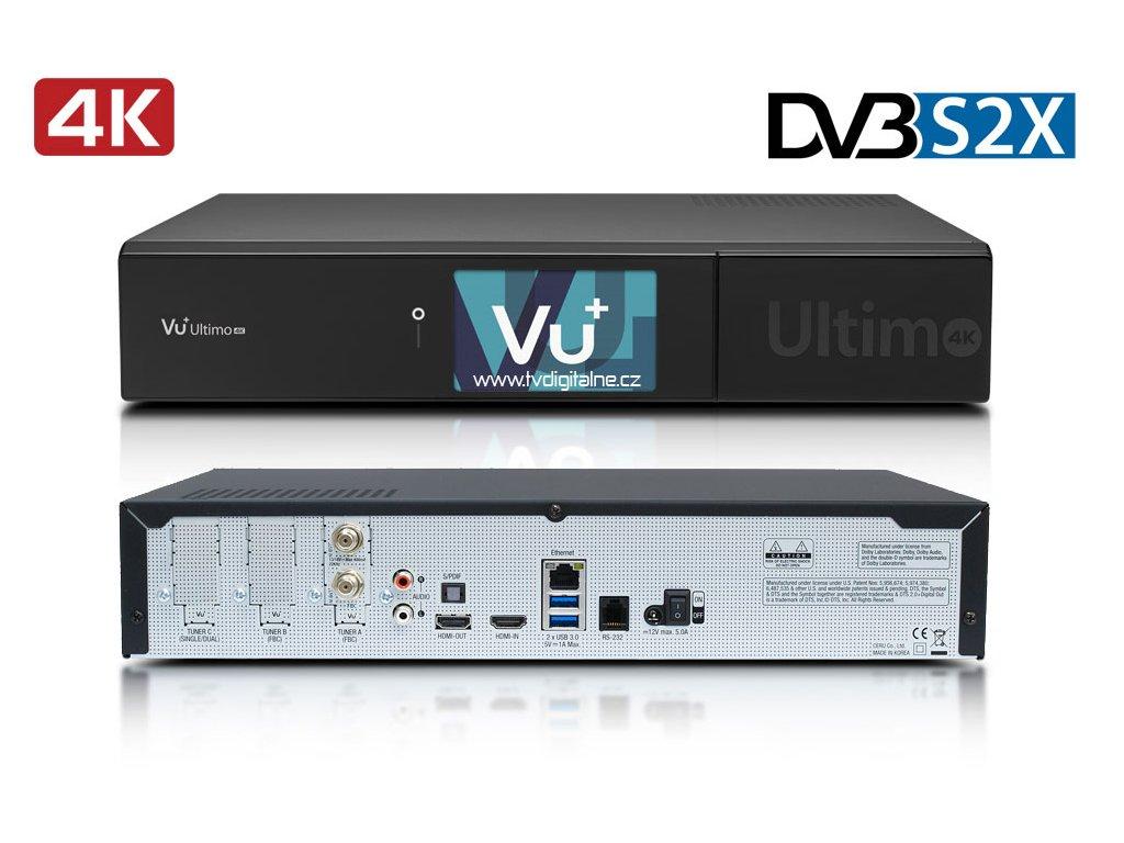 Vu+ ULTIMO 4K (1x dual DVB-S2X FBC)  + Konfigurace linuxového přijímače ZDARMA !