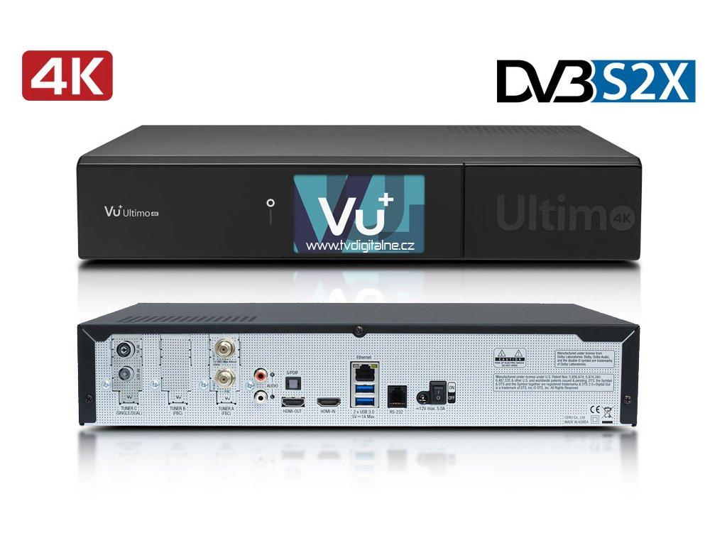 Vu+ ULTIMO 4K (1x dual DVB-S2X FBC + 1x DVB-T2/C)  + Konfigurace linuxového přijímače ZDARMA !