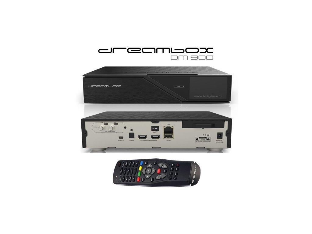 Dreambox DM 900 UltraHD (1x dual DVB-S2)  + Konfigurace linuxového přijímače ZDARMA !