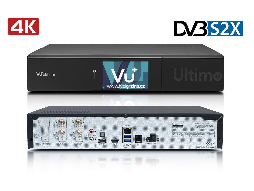 Vu+ ULTIMO 4K (2x dual DVB-S2X FBC)  + Konfigurace linuxového přijímače ZDARMA !