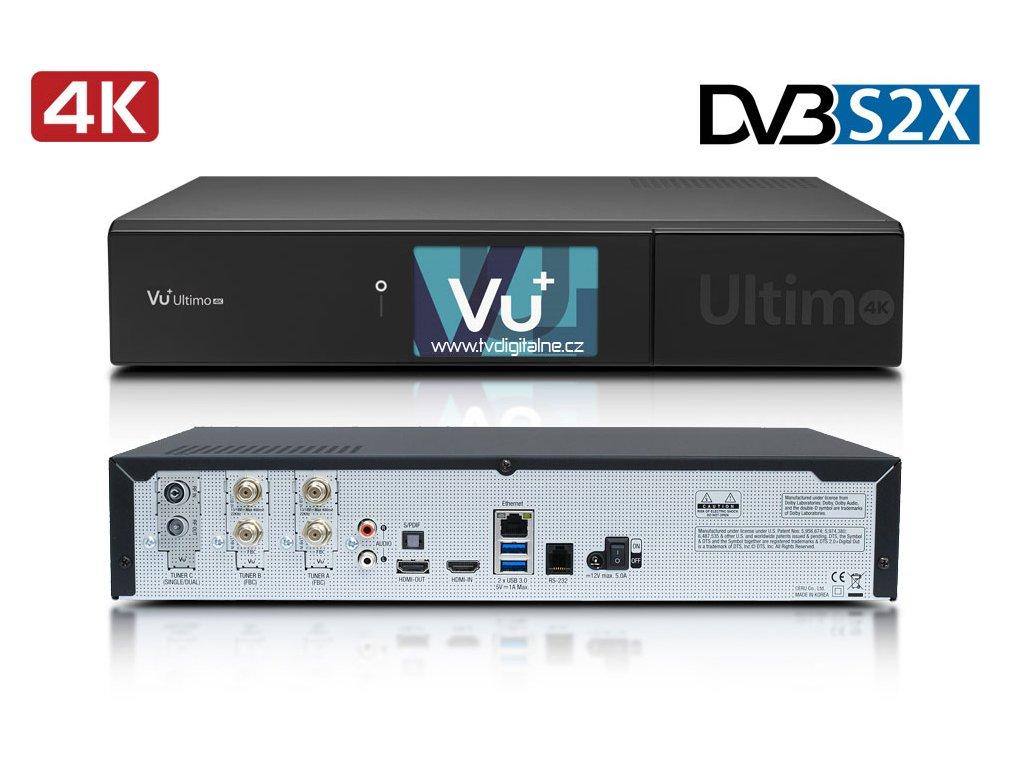 Vu+ ULTIMO 4K (2x dual DVB-S2X FBC + 1x DVB-T/C)  + Konfigurace linuxového přijímače ZDARMA !