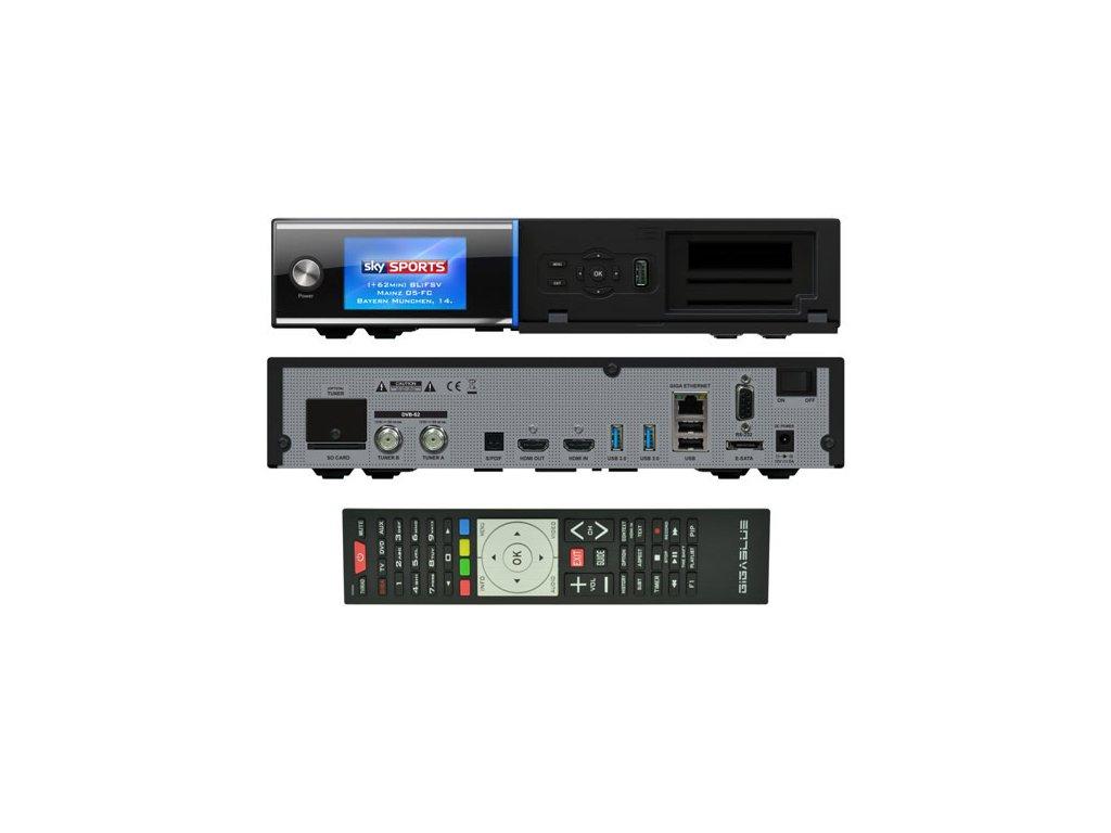 GigaBlue UHD Quad 4K (1x dual DVB-S2X FBC + 1x dual DVB-T2C)  + Konfigurace linuxového přijímače ZDARMA !