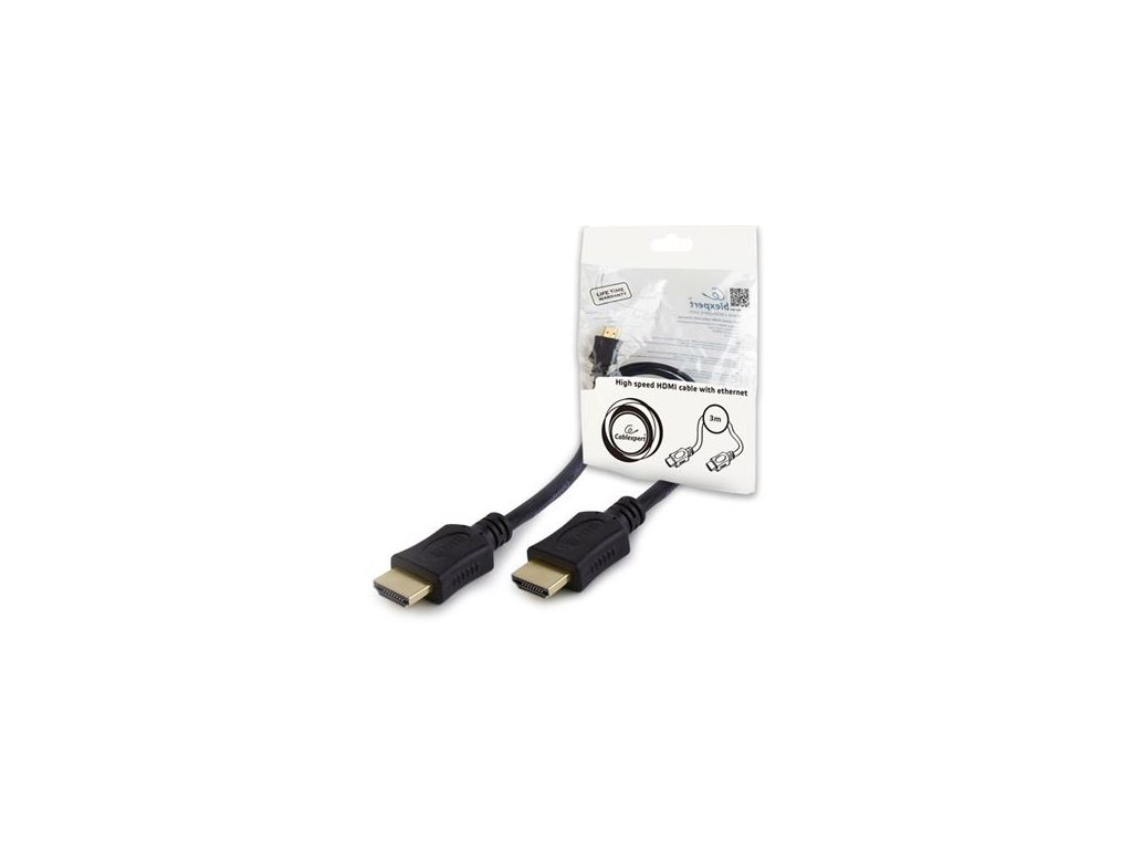 Kabel HDMI-HDMI 1,8m (1.4, Ethernet, 3D, 1080p)
