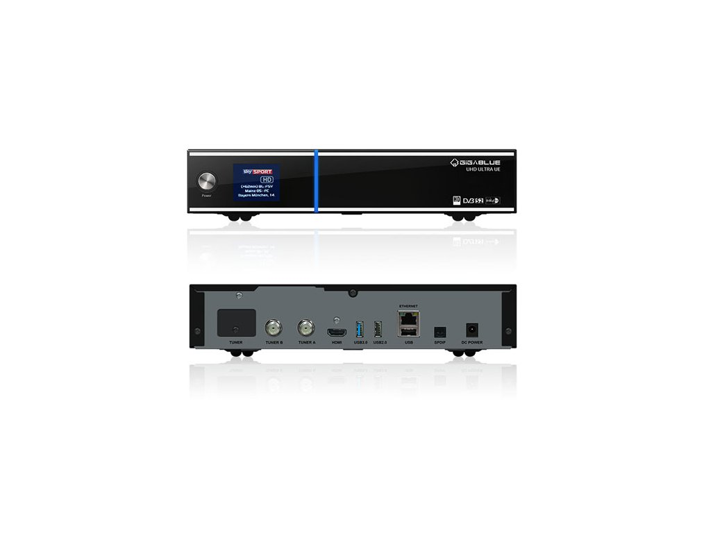 GigaBlue UHD UE 4K (1x dual DVB-S2 FBC + 1x dual DVB-T2C)  + Konfigurace linuxového přijímače ZDARMA !