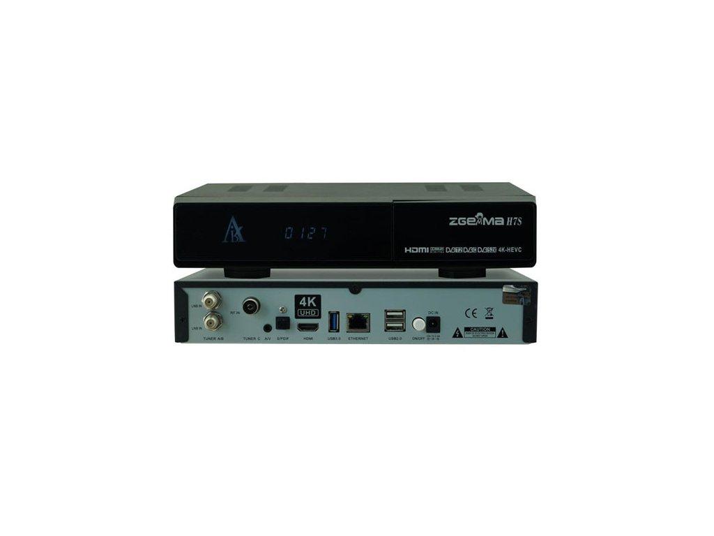 Zgemma H7S (2xDVB-S2X, 1x DVB-T2/C)  + Konfigurace linuxového přijímače ZDARMA !