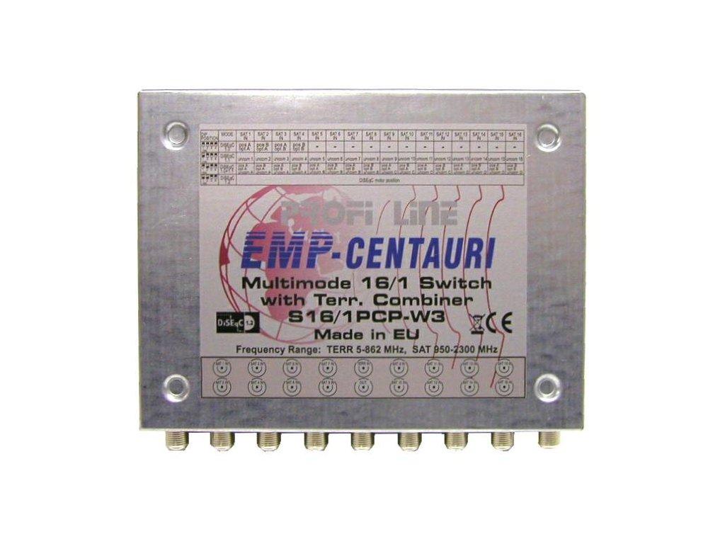 DiSEqC přepínač 16/1+TV - EMP S 16/1 PCP-W3