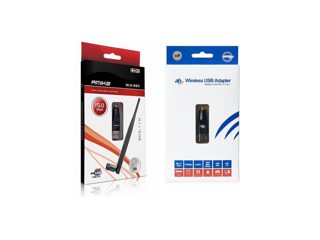 USB Wifi adaptér s 5dBi anténou - 150Mbps (Amiko/AB)