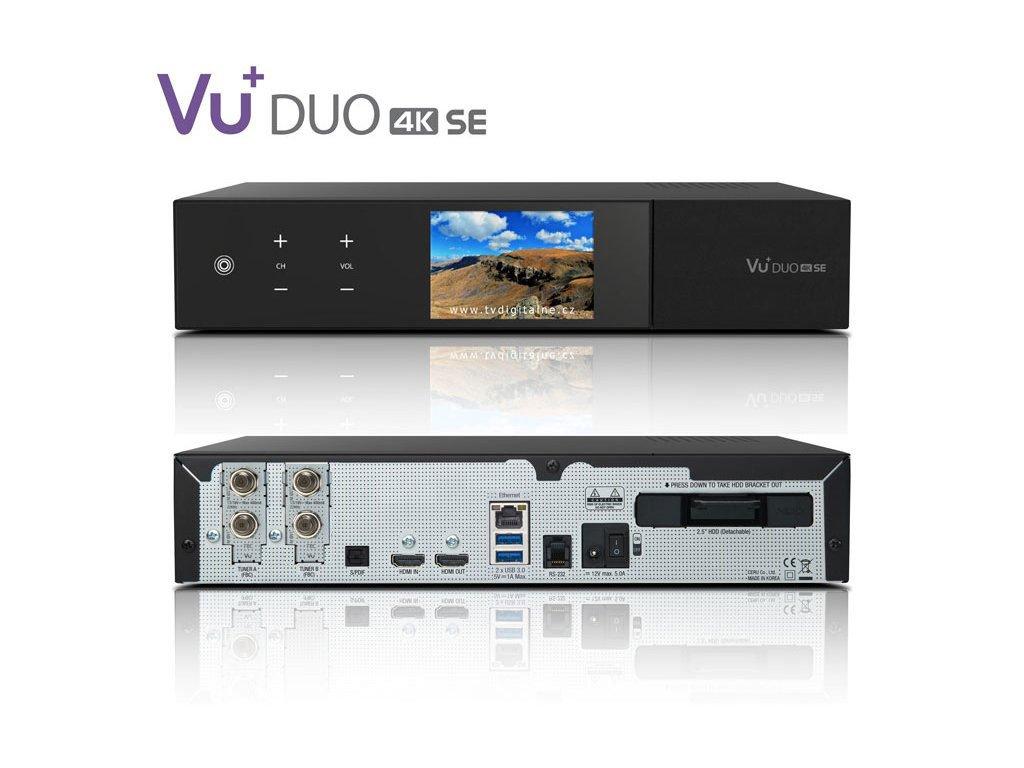 VU+ DUO 4K SE (2x dual FBC DVB-S2X)  + Konfigurace linuxového přijímače ZDARMA !