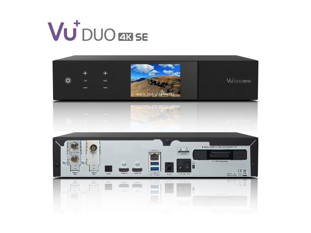 VU+ DUO 4K SE (1x DVB-C FBC + 1x dual DVB-T2 MTSIF)  + Konfigurace linuxového přijímače ZDARMA !