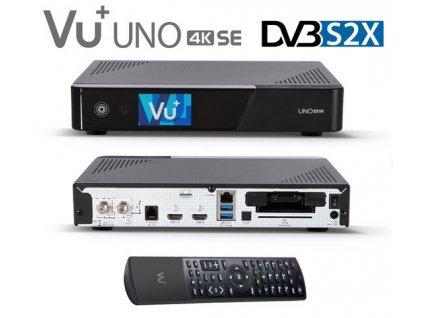Vu+ UNO 4K SE (1x dual DVB-S2X FBC) - rozbalený kus  + Konfigurace linuxového přijímače ZDARMA !