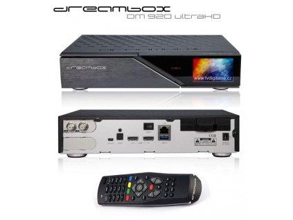Dreambox DM 920 UHD (1x dual DVB-S2)  + Konfigurace linuxového přijímače ZDARMA !