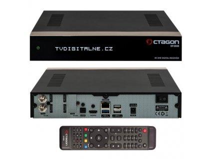 Octagon SF4008 UHD 4K (2x DVB-S2X + 1x DVB-C/T2)  + Konfigurace linuxového přijímače ZDARMA !